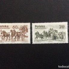 Sellos: POLONIA Nº YVERT 1480/1*** AÑO 1965.DILIGENCIA. Lote 147103278