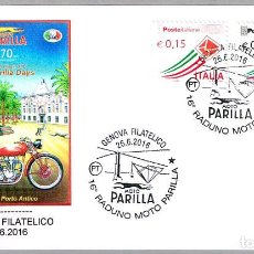 Sellos: MATASELLOS FERIA DE MOTO PARILLA - PERRO - GALGO. GENOVA, ITALIA, 2016. Lote 147289754
