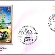 Sellos: MATASELLOS FERIA DE MOTO PARILLA - PERRO - GALGO. DIANO MARINA, ITALIA, 2017. Lote 147289906