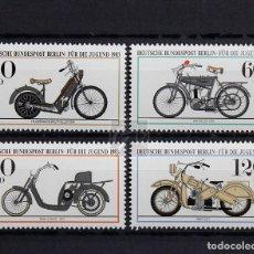 Sellos: ALEMANIA BERLÍN 1983 ** NUEVO ** MNH ** PRO JUVENTUD: MOTOS DE ÉPOCA. Lote 147394530