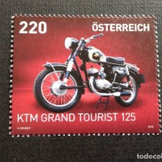 Sellos: MOTOCICLETAS. AUSTRIA AÑO 2018. MOTO KTM R 125 GRAN TURISMO. Lote 147781598