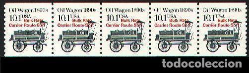 USA 1985 OIL WAGON PRECANCELADO (Sellos - Temáticas - Otros Transportes)