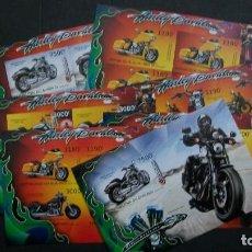 Sellos: BURUNDI-2012-TRANCPORTE-MOTOS-HARLEY DAVIDSON. Lote 148516766