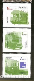 PORTUGAL ** & TRANSPORTES PÚBLICOS, III GRUPO, AUTOADHESIVOS 2009 (5778) (Sellos - Temáticas - Otros Transportes)