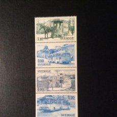 Sellos: SUECIA Nº YVERT 980/4*** AÑO 1977. MEDIOS DE TRANSPORTE. Lote 149650210