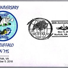 Sellos: MATASELLOS 35 ANIVERSARIO SUBMARINO NUCLEAR USS BUFFALO SSN-715. NORFOLK VA 2018. Lote 150436718