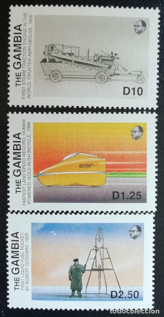 1988. TRANSPORTES. GAMBIA. 746 / 749. NUEVO. (Sellos - Temáticas - Otros Transportes)