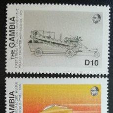 Sellos: 1988. TRANSPORTES. GAMBIA. 746 / 749. SERIE CORTA. NUEVO.. Lote 154155558