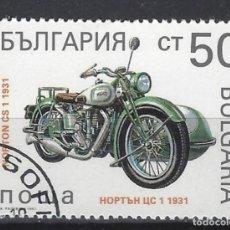 Sellos: MOTOCICLETAS / BULGARÍA - SELLO USADO. Lote 154195106