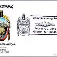 Sellos: MATASELLOS PUESTA EN SERVICIO SUBMARINO NUCLEAR USS SOUTH DAKOTA (SSN-790). GROTON CT 2019. Lote 155143958