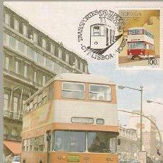 Sellos: PORTUGAL & POSTAL MÁXIMO, TRANSPORTE TIPICOS LISBOA, AUTOBÚS 1989 (1886). Lote 156645002