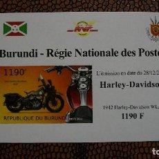 Briefmarken - TRNSPORTE-MOTOS-HARLEY DAVIDSON WLA/1942/-BURUNDI-2012-BLOQUE SIN DENTAR**(MNH) - 158342286