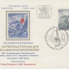Sellos: AUSTRIA IVERT Nº 1317, CONGRESO INTERNACIONAL SOBRE EL TRANSPORTE POR CABLE EN VIENA, PRIMER DIA DE . Lote 162782510