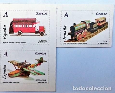 3 SELLOS SERIE JUGUETES AÑO 2007 (Sellos - Temáticas - Otros Transportes)