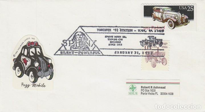 ESTADOS UNIDOS, SPHINX MOTOR (UN CAMIÓN), MATASELLO DE 31-1-1992 (Sellos - Temáticas - Otros Transportes)