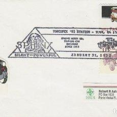 Sellos: ESTADOS UNIDOS, SPHINX MOTOR (UN CAMIÓN), MATASELLO DE 31-1-1992. Lote 164223930