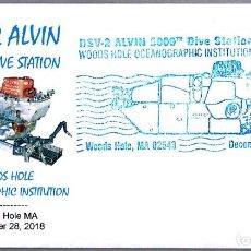 Sellos: MATASELLOS 5000 INMERSIONES - SUBMARINO INVESTIGACION DSV-2 ALVIN. WOODS HOLE MA, EEUU, 2018. Lote 168100756