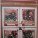 Sellos: HB R. MALDIVAS MTDOS/2017/MOTOCICLETAS/MOTORES/FAMOSOS/TRANSPORTE/. Lote 168384948