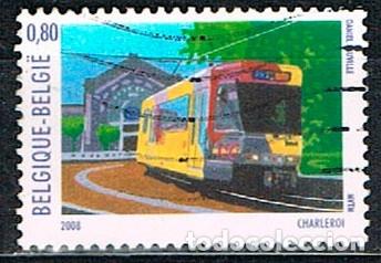 BELGICA 3794, TRANVIA, USADO (Sellos - Temáticas - Otros Transportes)