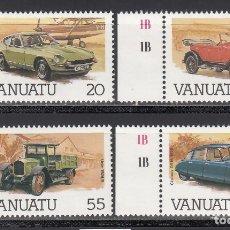 Sellos: VANUATU, 1986 YVERT Nº 755 / 758, VEHÍCULOS . Lote 173172485