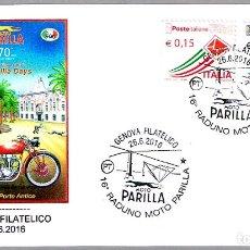 Sellos: MATASELLOS FERIA DE MOTO PARILLA - PERRO - GALGO. GENOVA, ITALIA, 2016. Lote 173576357
