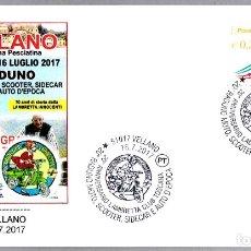 Sellos: MATASELLOS 20 AÑOS LAMBRETTA CLUB TOSCANA - MOTOS - PINOCHO. VELLANO, ITALIA, 2017. Lote 173576465