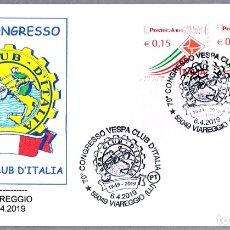 Sellos: MATASELLOS 70 CONGRESO VESPA CLUB DE ITALIA - MOTO. VIAREGGIO, ITALIA, 2019. Lote 173576837