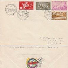 Sellos: AÑO 1961, LOS TRANSPORTES, SAN MARTIN DE PROVENSALS, EN SOBRE CIRCULADO. Lote 178958718