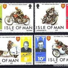 Sellos: 1974 - ISLA DE MAN - MOTOCICLISMO MOTOS - NUEVOS MNH**. Lote 182265717