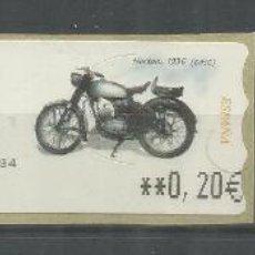 Sellos: ESPAÑA ATM MOTO MOTORBIKE MOTORCYCLE NORTON 1936 3 MAQUINAS. Lote 191334028