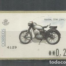 Sellos: ESPAÑA ATM MOTO MOTORBIKE MOTORCYCLE NORTON 1936. Lote 191334226