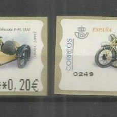 Sellos: ESPAÑA ATM MOTO MOTORBIKE MOTORCYCLE MOTOBECANE 1930 2 MAQUINAS. Lote 191334453