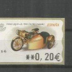 Sellos: ESPAÑA ATM MOTO MOTORBIKE MOTORCYCLE 3 MAQUINAS MONET GOYON 1932 UNA CON CORTE DE SEGURIDAD AL REVES. Lote 191334528