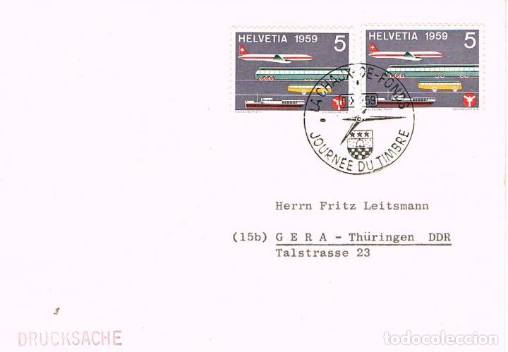 SUIZA IVERT Nº 621, INAUGURACION DEL MUSEO DE TRANSPORTES DE LUZERNA, MATASELLO DE 17-8-1959 (Sellos - Temáticas - Otros Transportes)