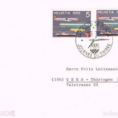 Sellos: SUIZA IVERT Nº 621, INAUGURACION DEL MUSEO DE TRANSPORTES DE LUZERNA, MATASELLO DE 17-8-1959. Lote 194059443