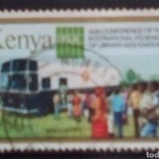 Sellos: KENYA TRANSPORTE PÚBLICO SELLO USADO. Lote 194769750