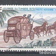 Sellos: NUEVA CALEDONIA AÉREO Nº 146º DÍA DEL SELLO. CARRUAJE. COMPLETA. Lote 194884698