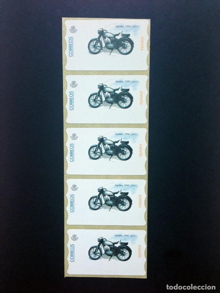 Sellos: ESPAÑA.MOTOCICLETAS CLÁSICAS.Conjunto de 20 etiquetas postales nuevas. - Foto 2 - 208370671