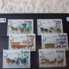 Sellos: CUBA TRAPORTES CABALLOS SERIE COMPLETA PERFECTA AÑO 1881. Lote 205381010