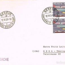 Sellos: SUIZA IVERT Nº 621, INAUGURACION DEL MUSEO DE TRANSPORTES DE LUZERNA, MATASELLO DE 17-8-1959. Lote 206346362