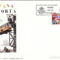 Sellos: EDIFIL 2628, ESPAÑA EXPORTA VEHICULOS DE TRANSPORTE, PRIMER DIA DE 30-9-1981 FLASH. Lote 206346627