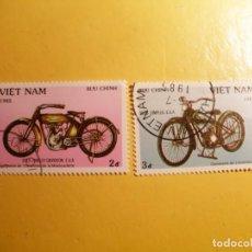 Timbres: VIETNAM 1985 - MOTOS Y MOTOCICLETAS - HARLEY DAVIDSON (1913) - SIMPLEX (1935).. Lote 207361588