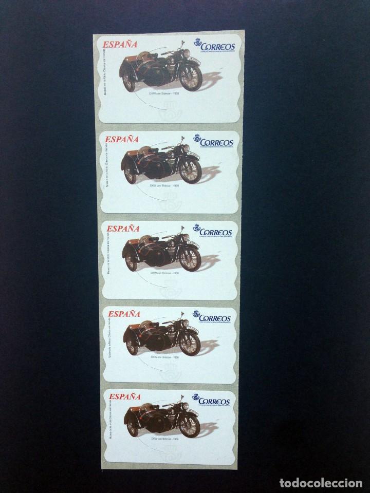 Sellos: ESPAÑA.MOTOCICLETAS CLÁSICAS.Conjunto de 20 etiquetas postales nuevas. - Foto 4 - 208370671