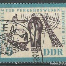 Sellos: ALEMANIA - ORIENTAL - 5 PFENNIG - UNIVERSIDAD DE TRANSPORTE - FRIEDRICH LIST 1968 - USADO CON GOMA. Lote 209582412
