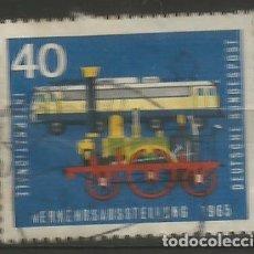 Sellos: ALEMANIA - FEDERAL - 40 PFENNIG 1965 - MI 472 - EXPOSICIÓN INTERNACIONAL DE TRÁFICO - USADO. Lote 209582611