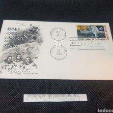 Sellos: SOBRE PRIMER DÍA PRIMER HOMBRE EN LA LUNA 1969. Lote 210101183