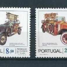 Sellos: PORTUGAL 1982 HOMENAJE AL CUERPO DE BOMBEROS CAMIONES. Lote 212239802