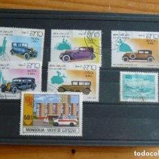 Sellos: 7 SELLOS DE AUTOMOVILES LAOS (5) Y MONGOLIA (2). Lote 212493700