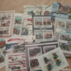 Sellos: HOJAS BLOQUE (11) TEMATICA MOTOS/MOTOCICLETAS/TRANSPORTE/HISTORIA/SUBASTA EXTRAORDIANRIA. Lote 216792842