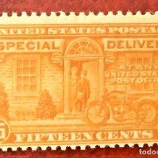 Sellos: USA. CARTAS EXPRÉS 12 MENSAJERO CON MOTOCICLETA. 1922/25. SELLOS NUEVOS Y NUMERACIÓN YVERT.. Lote 216845492